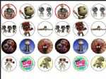 24 x Sackboy Little Big Planet Wafer Paper Cup Cake Toppers